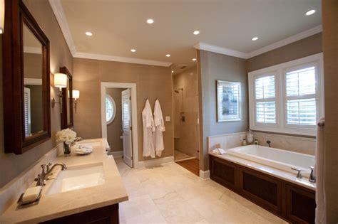 british colonial master suite traditional bathroom charlotte  loftus design llc