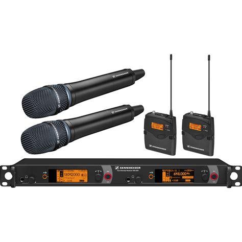 Mic Wireless Shennheiser Em 2500 Heandhel sennheiser 2000 series dual handheld and dual 2000c2 204bk