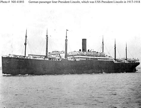 boat transport hshire usn ships uss president lincoln 1917 1918