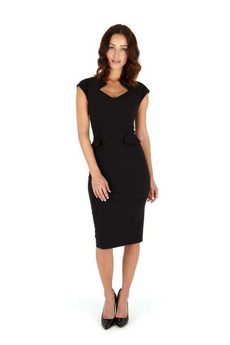 harvard black pencil dress