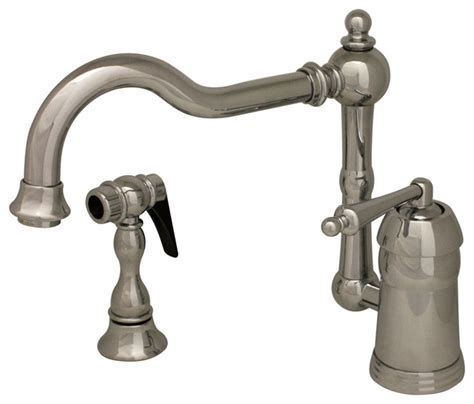 farmhouse faucet kitchen legacyhaus single lever handle faucet swivel spout