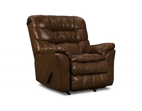 simmons leather rocker recliner simmons upholstery riverside tobacco bonded leather rocker