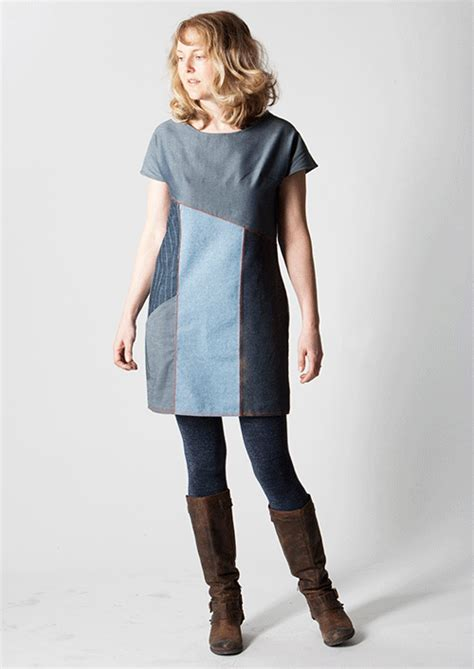 Jeans Dress Pattern | the essential denim dress multisize sewing pattern sew