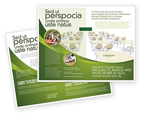 course brochure template school class brochure template design and layout