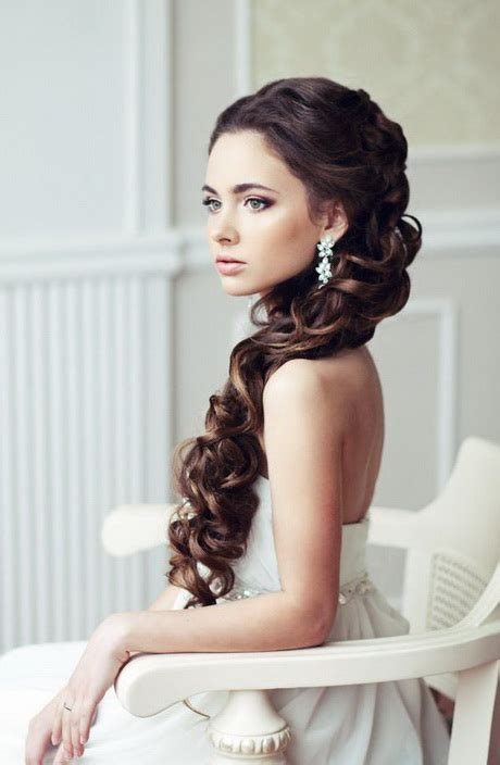 wedding hairstyles down and to the side side style hairstyles for weddings