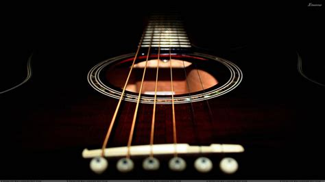 Cover Up Gitar Black guitar closeup on black background wallpaper