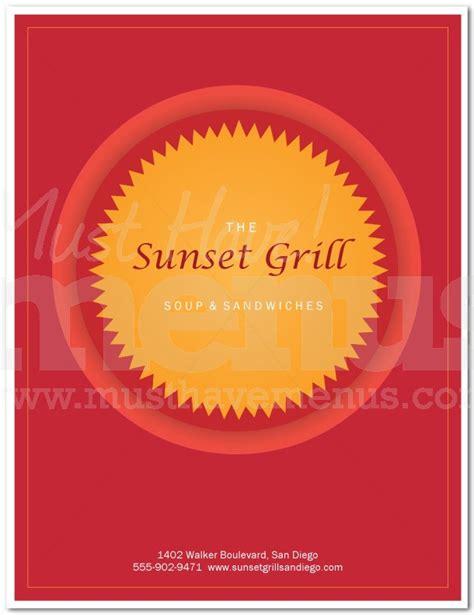 food menu cover page 1