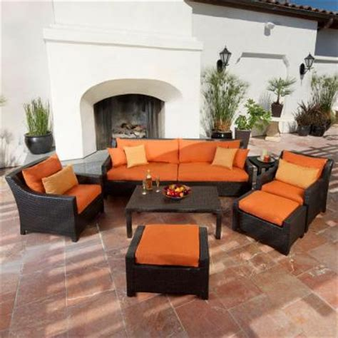 rst brands deco 8 patio seating set with tikka