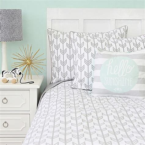 arrow bedding buy caden lane 174 arrow twin duvet cover in grey from bed bath beyond
