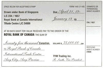 Rbc Credit Letter Bill Of Exchange Letter Of Credit Sle Rbc Royal Bank