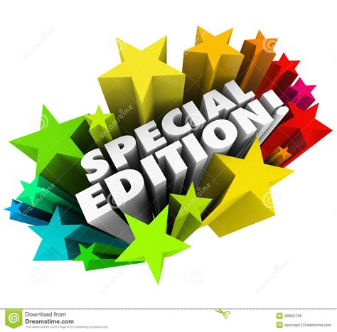 Special Edition special edition words starburst limited collectors version issue stock illustration image