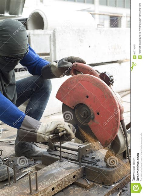 worker cutting steel pipe using metal stock photo 380191102 worker cutting steel stock photo image 64778145