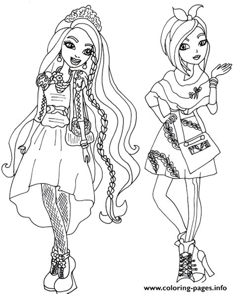 ever after high coloring pages poppy o hair holly and poppy o hair ever after high coloring pages