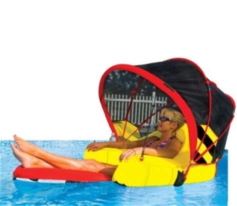 new cabriolet swimming pool lounger canopy inflatable