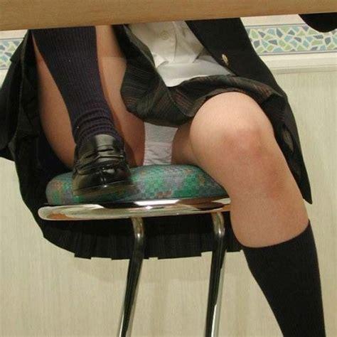 Schoolgirl Upskirt Under Desk Creepshot