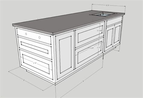 kitchen island cabinet plans study planning a kitchen renovation