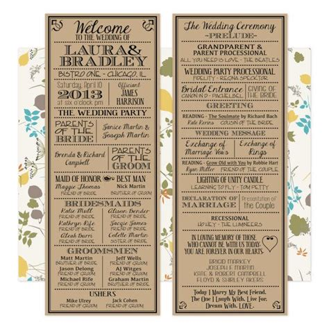 vintage wedding program templates printable digital wedding program vintage playbill theme
