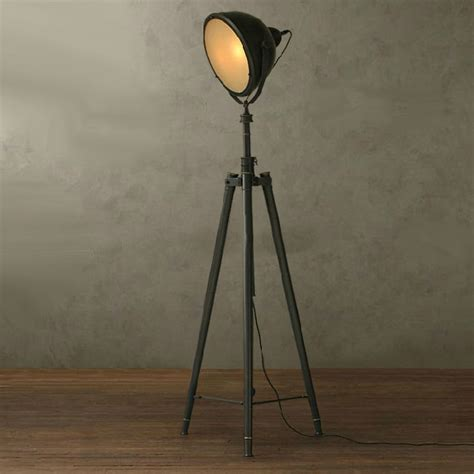 Antique Sconce Lights Nurham Industrial Matte Glass Shade Heavy Metal Floor Lamp