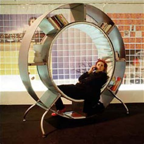 reaction bookshelf a human hamster wheel of learning