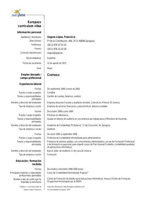 Modelo Curriculum Rosario Cv Eu Ejemplo