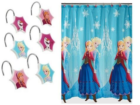 frozen shower curtain disney frozen fabric shower curtain and hooks nip ebay