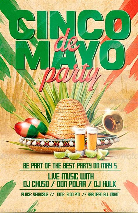 Ffflyer Flyer Template Cinco De Mayo Party Flyer Poster Template Cinco De Mayo Template