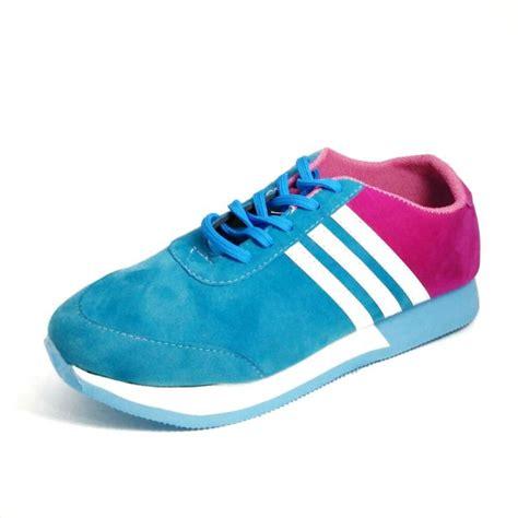 Istimewa Sepatu Sport Spons Bunga jual panda sport sepatu sneakers wanita biru berry
