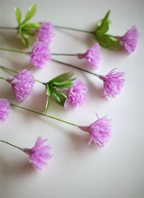 How To Make A Paper Carnation - ruffles and stuff diy crepe paper carnations