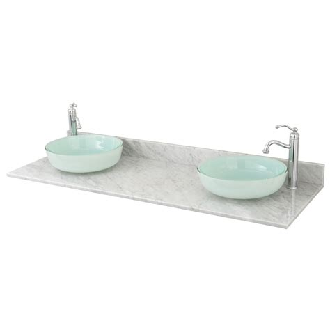 double bathroom sink tops 61 quot x 22 quot marble double vessel sink vanity top bathroom