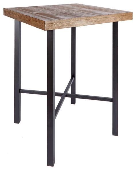 Industrial Bistro Table Fowler Industrial Pub Table Modern Indoor Pub And Bistro Tables By Silverwood Products