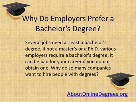 Do You Need A Degree To Do An Mba by Why Do Employers Prefer A Bachelor S Degree
