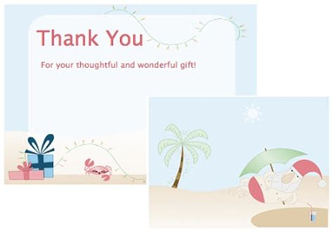 microsoft office thank you card template bindlegrim artist and author free summer santa