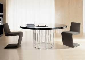 dining table black brown round dining table