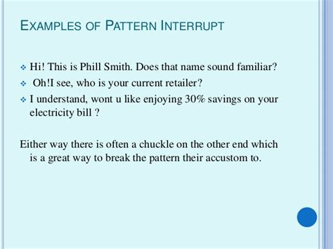 pattern interrupt in sales the world of
