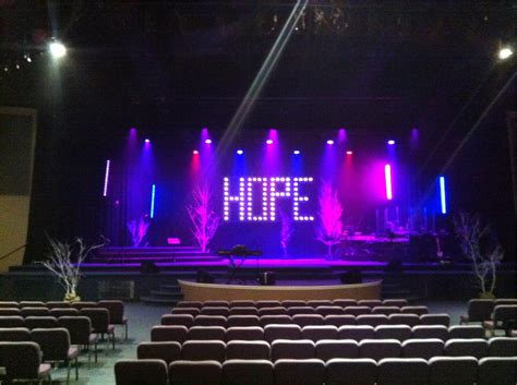church stage lighting ideas hope floats church stage design ideas