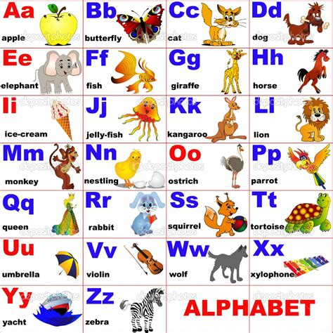 learn the alphabet learn abc with animal pictures teach your child to recognize the letters of the alphabet abcd for books learning didactic language the alphabet
