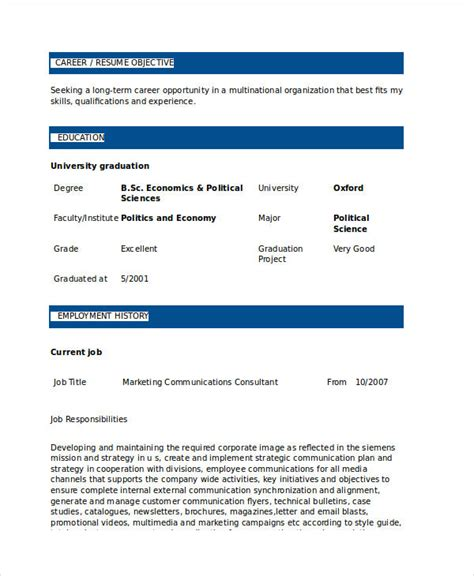 communications consultant resume marketing resume sles for successful hunters