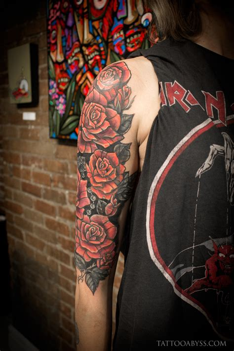 quarter sleeve tattoo cover up roses half sleeve cover up