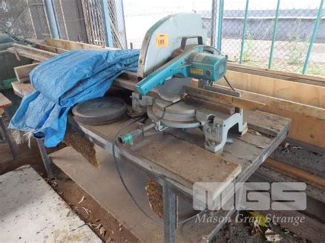 drop saw bench drop saw makita ls1510 380mm mitre cut 240v bench