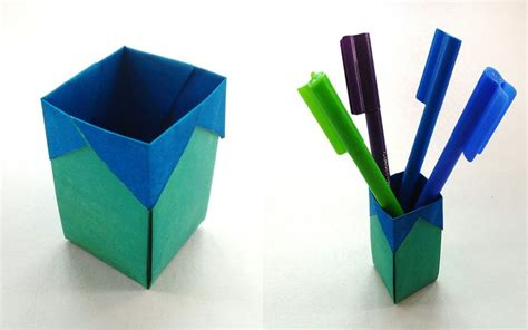 Origami Pen Stand - 369 best images about origami containers boxes 1 on