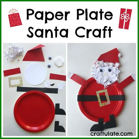 Santa Paper Plate Craft - 17 best images about paper plate and paper cups for