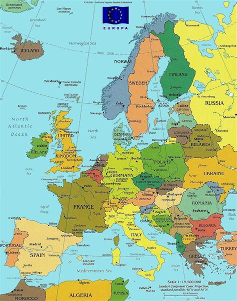 map of europe and surrounding countries map of major cities in europe for roundtripticket me