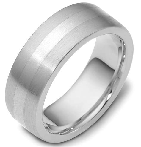 platinum comfort fit wedding band 117731pp platinum comfort fit 7 5mm wide wedding band