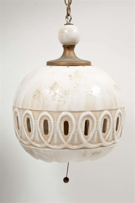 Ceramic Pendant Lights Italian Ceramic Pendant Light By Raymor At 1stdibs