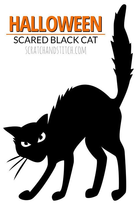 black cat templates for halloween 8 easy decor ideas scratchandstitch