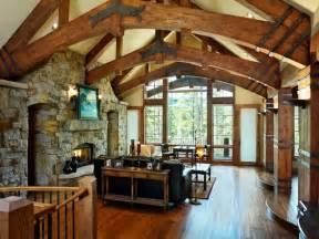 timber frame home interiors timber frame home rustic living room by sitka log homes
