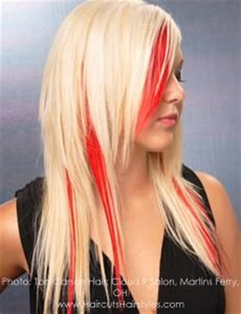 what red highlights look like in blonde streaked hair 1000 images about peekaboo lights on pinterest dark