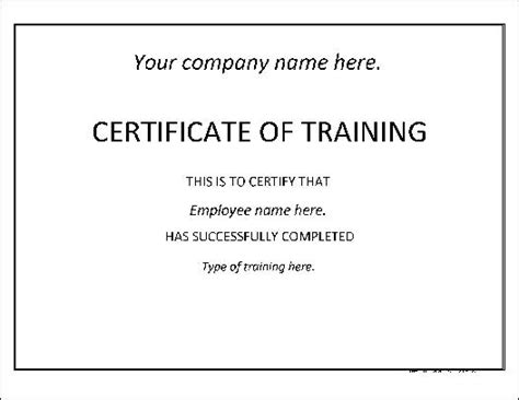 free basic training certificate from formville