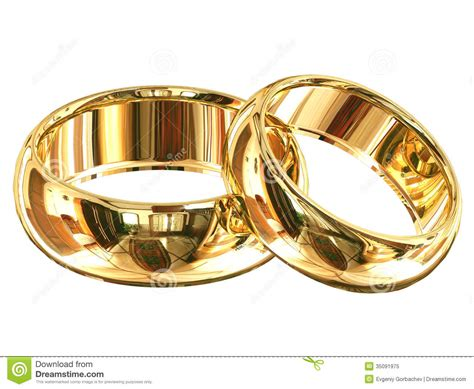 Eheringe Verbunden by Wedding Rings Isolated Royalty Free Stock Photo Image