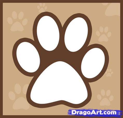 how to draw a paw how to draw wolf paw print